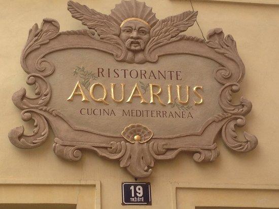 Aquarius Restaurant : Insegna