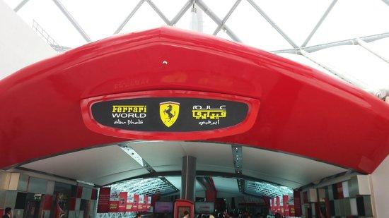 Ferrari World Abu Dhabi: Entrance