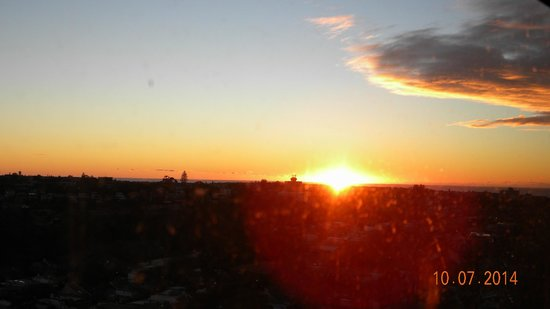Meriton Suites Bondi Junction: Sunrise over Bondi Beach.