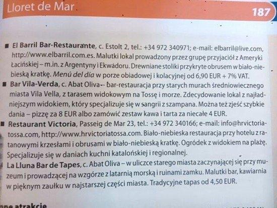 El Barril Restaurante : Guía de Polònia donde recomiendan el Barril