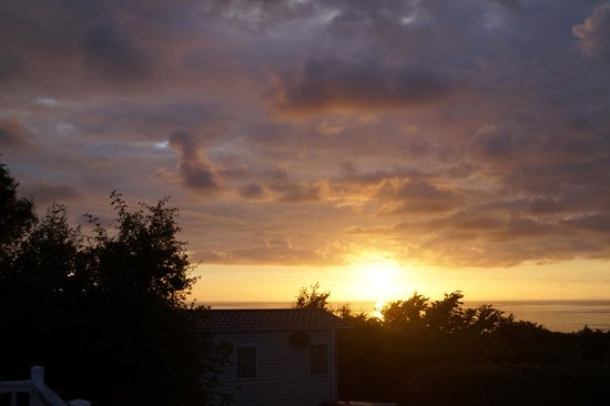 Brynowen Holiday Park: another sunset all from the veranda