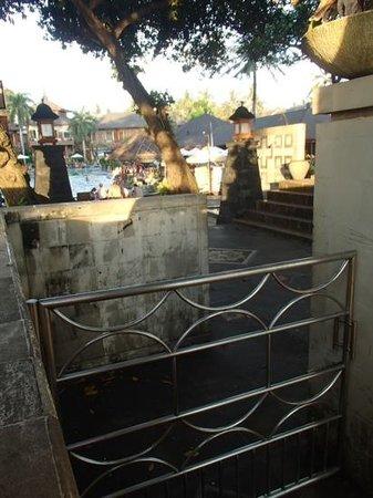 The Jayakarta Bali Beach Resort: gates closed for Nyepi day @ Jayakarta