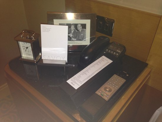 The Savoy: Bedside table