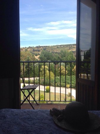 La Perla Blanca : The view from the bed through the open balcony!