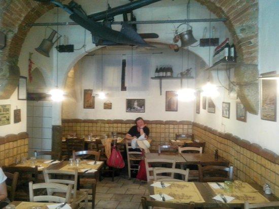 La Burrasca: La sala...piccolina ma carina