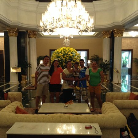 The Oberoi Grand: In the hotel lobby.