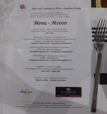 Lemoni Grill House: Slow Food special dinner