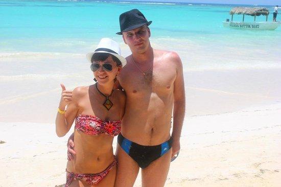 Iberostar Punta Cana: На пляже возле отеля.
