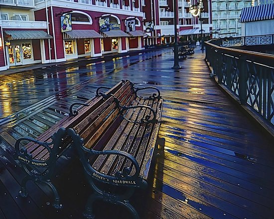 Disney's BoardWalk Inn : Early Morning after a rain