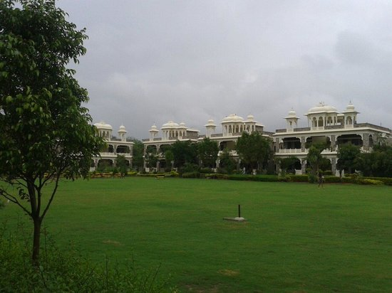 The Udai Bagh: View of the rooms and lawns.