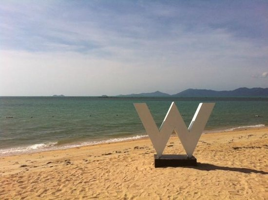 W Retreat Koh Samui : View from the beach front