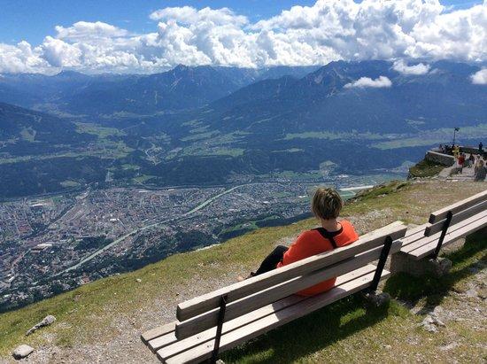 Alpengarten Patscherkofel: em baixo innsbruck