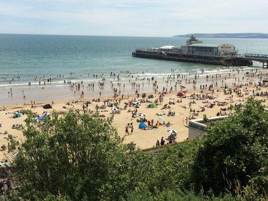 Hallmark Hotel Bournemouth Carlton: beach view by the pier