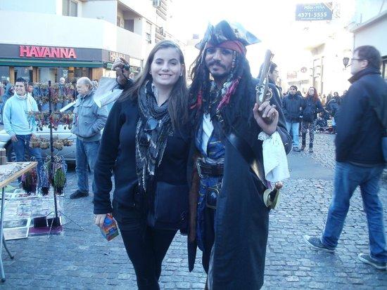 San Telmo: Jack Sparrow-Cosplay