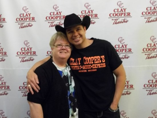 Clay Cooper Theatre: Clay Copper & myself after the show picture.