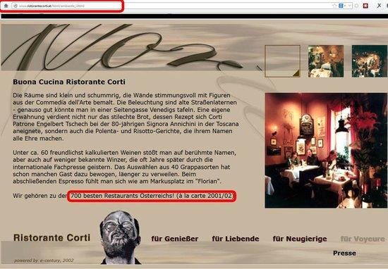 Ristorante Corti: Corti Weihrauch
