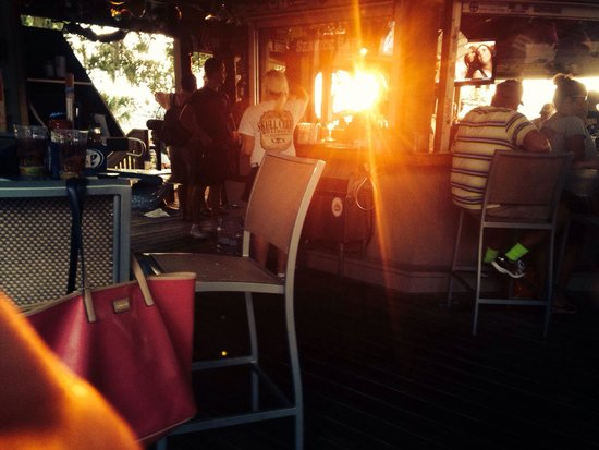 The Skull Creek Boathouse: From the outside bar