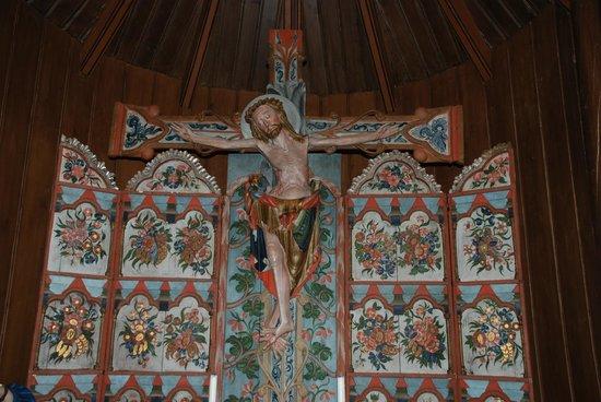 Hedalen Stave Church: Altar inside the church