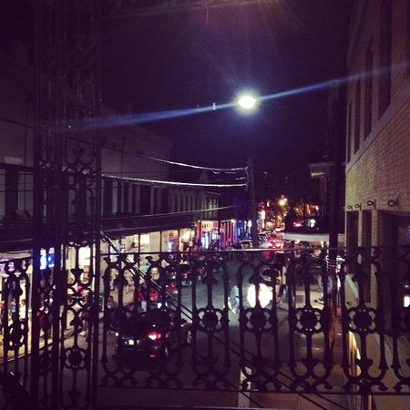 The Frenchmen Hotel: Side view from our balcony looking down Frenchmen St.
