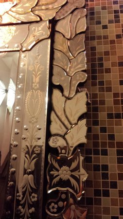 Hideaway of Nungwi Resort & Spa: A paper on the mirror, that was there for 4 days and probably still there!