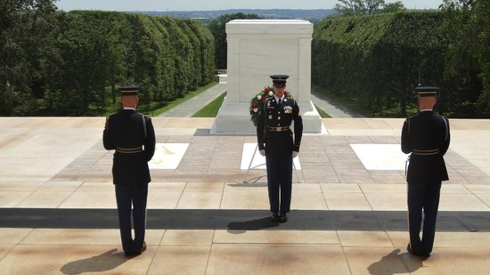 Arlington National Cemetery: Changing of the guard at The Tomb of the Unknowns.