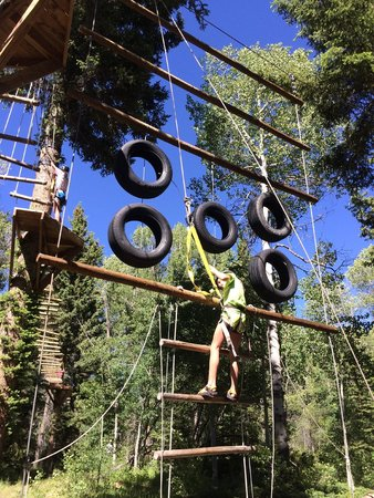 The Lodge and Spa at Brush Creek Ranch: Ropes Course and Zip lines