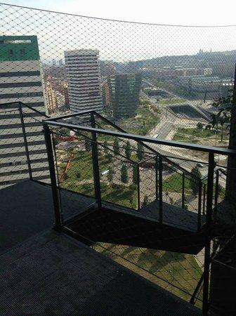 Renaissance Barcelona Fira Hotel: View from floor 17's external staircase