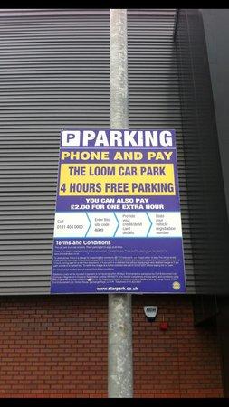 Cineworld, Leigh: car park signs. dont miss them!