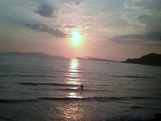 Mathraki Studios: Just one of the spectacular sunsets we saw from Arrilas beach