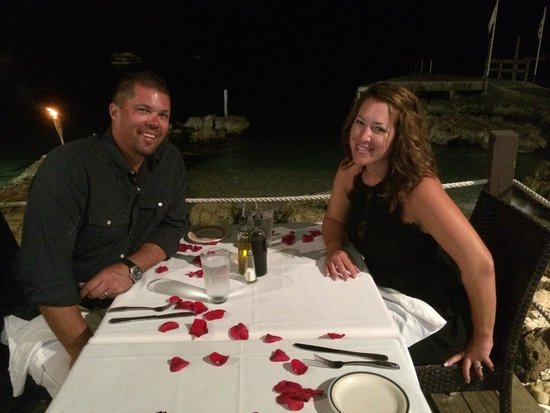 Casanova by the Sea: 14th anniversary dinner complete with ocean side  seating and a table