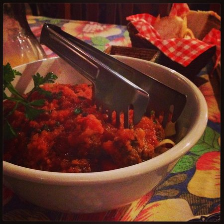 Vo Bertila Pizza & Pasta: Massa com porpetone!