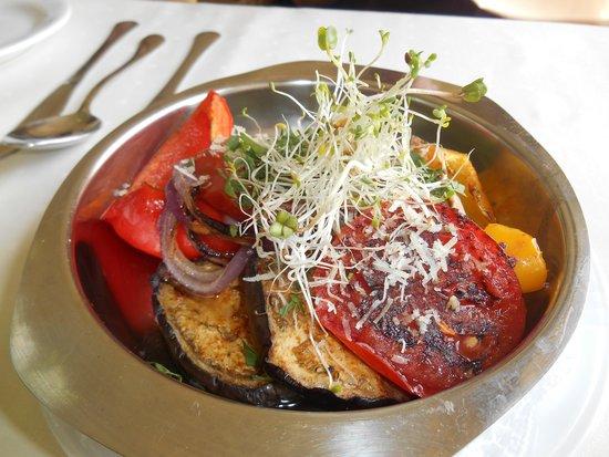 Przegorzaly Castle: grilled vegetables
