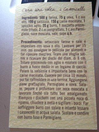 Il Circolino Citta Alta: Рецепт казончелли по-бергамасски