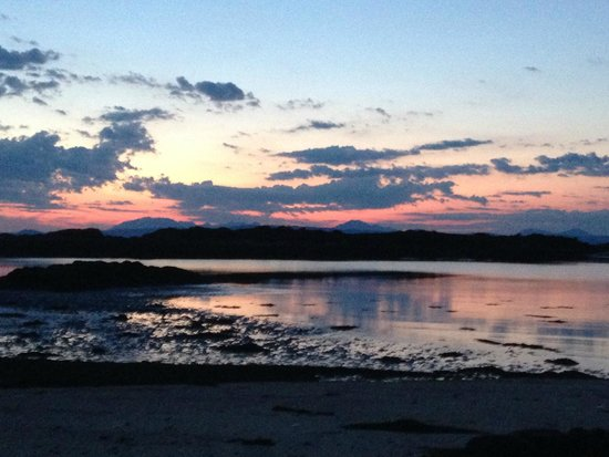 Cnoc-na-Faire: Sunset over Arisaig late July 2014