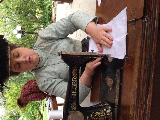 Centennial Village Museum : Sewing a shirtwaist