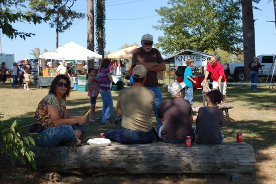 Wright City, OK: Enjoying the LumberJax Festival the second weekend in October.