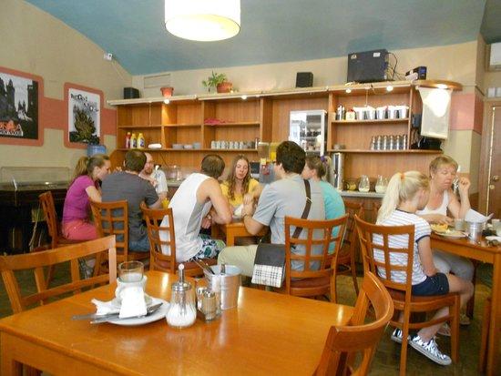 Novomestsky Hotel: Breakfast dining area