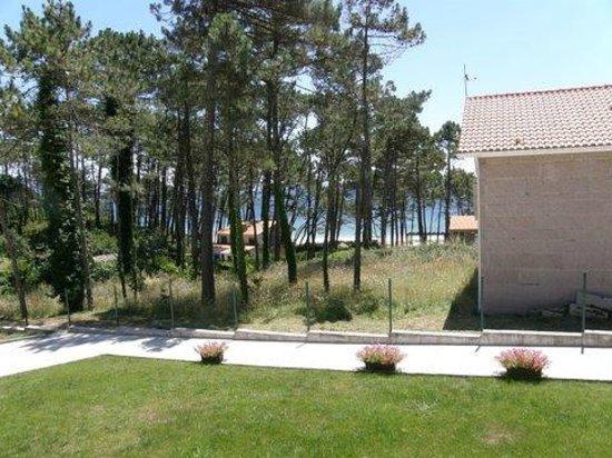 Alen do mar : La spiaggia di Langosteira dalla terrazza della camera
