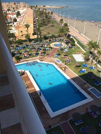 Sol Guadalmar by Melia : La piscine vue de notre balcon au 6ème étage