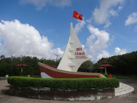 Ca Mau, Vietnam: The monument at the Dat Mui cape.