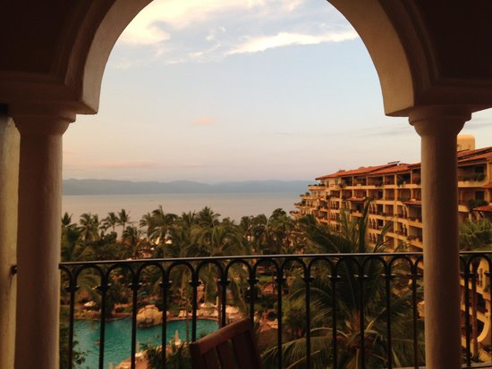 Velas Vallarta: View from our balcony @ sunset.