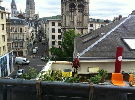 Hotel De L'Europe : Terrasse privative en plein coeur de Rouen