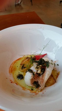 Miceli: Scorpion fish with potatoes,chilli and herbs