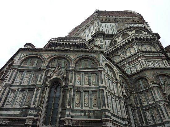 Cupola del Brunelleschi: Coté non nettoyé