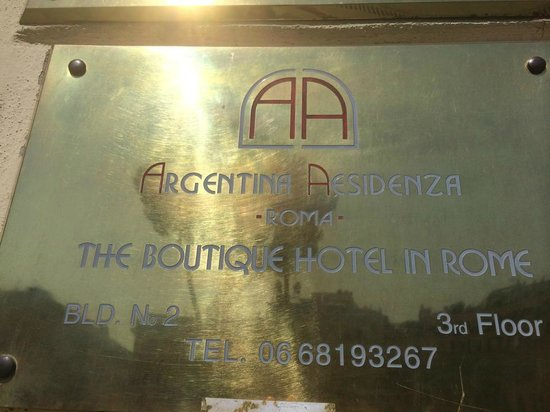 Residenza Argentina: Hotelsign
