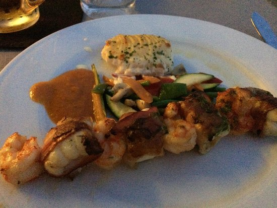 Stay Restaurant: monkfish kebab main
