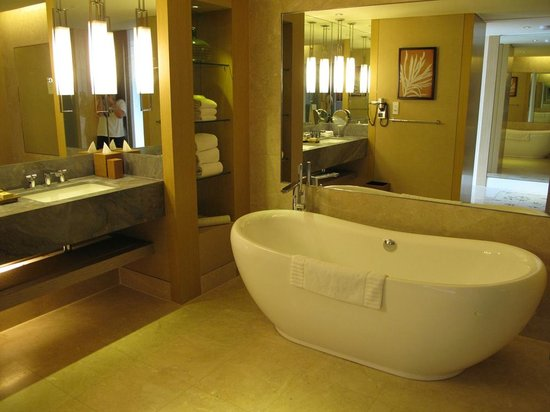 Marina Bay Sands : the bathroom in our suite