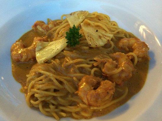 can CuarassA: prawn spaghetti starter