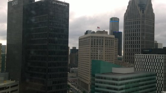 The Westin Book Cadillac Detroit: View from my room window, focus difficult window was dirty