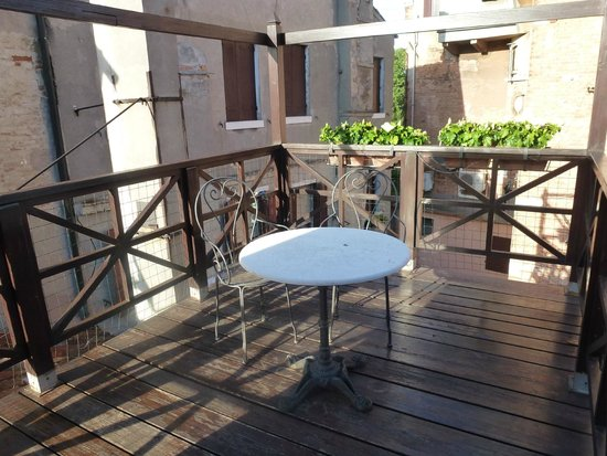 Hotel Campiello: Our private rooftop deck